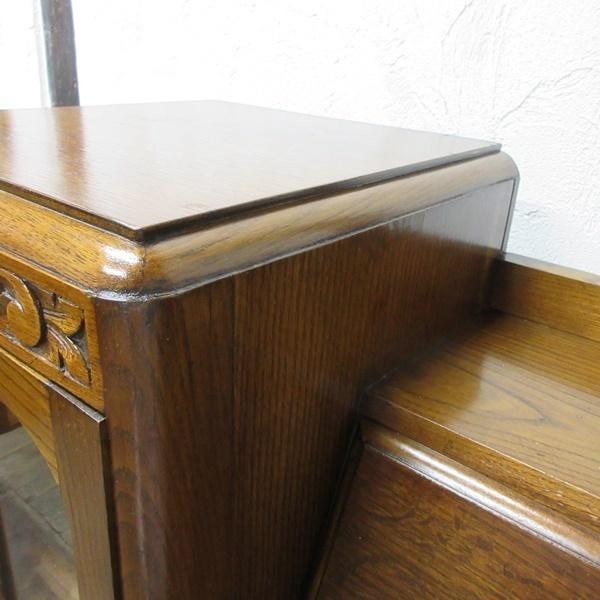 イギリス アンティーク 家具 CC41 サイドバイサイド ビューロー ディスプレイ 飾り棚 収納 木製 オーク 英国 BUREAU 6172c 新入荷_画像8