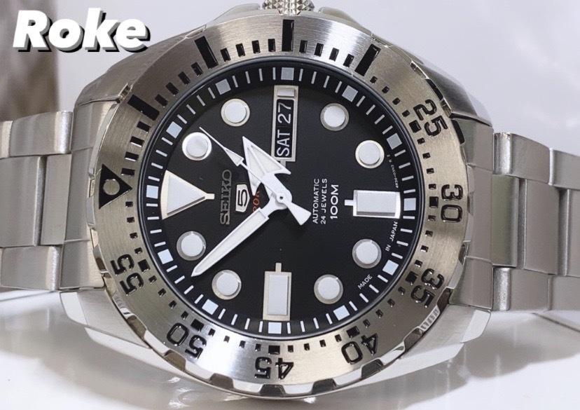 新品 SEIKO5 セイコー5スポーツ 自動巻き 機械式 腕時計 カレンダー ダイバーズウォッチ