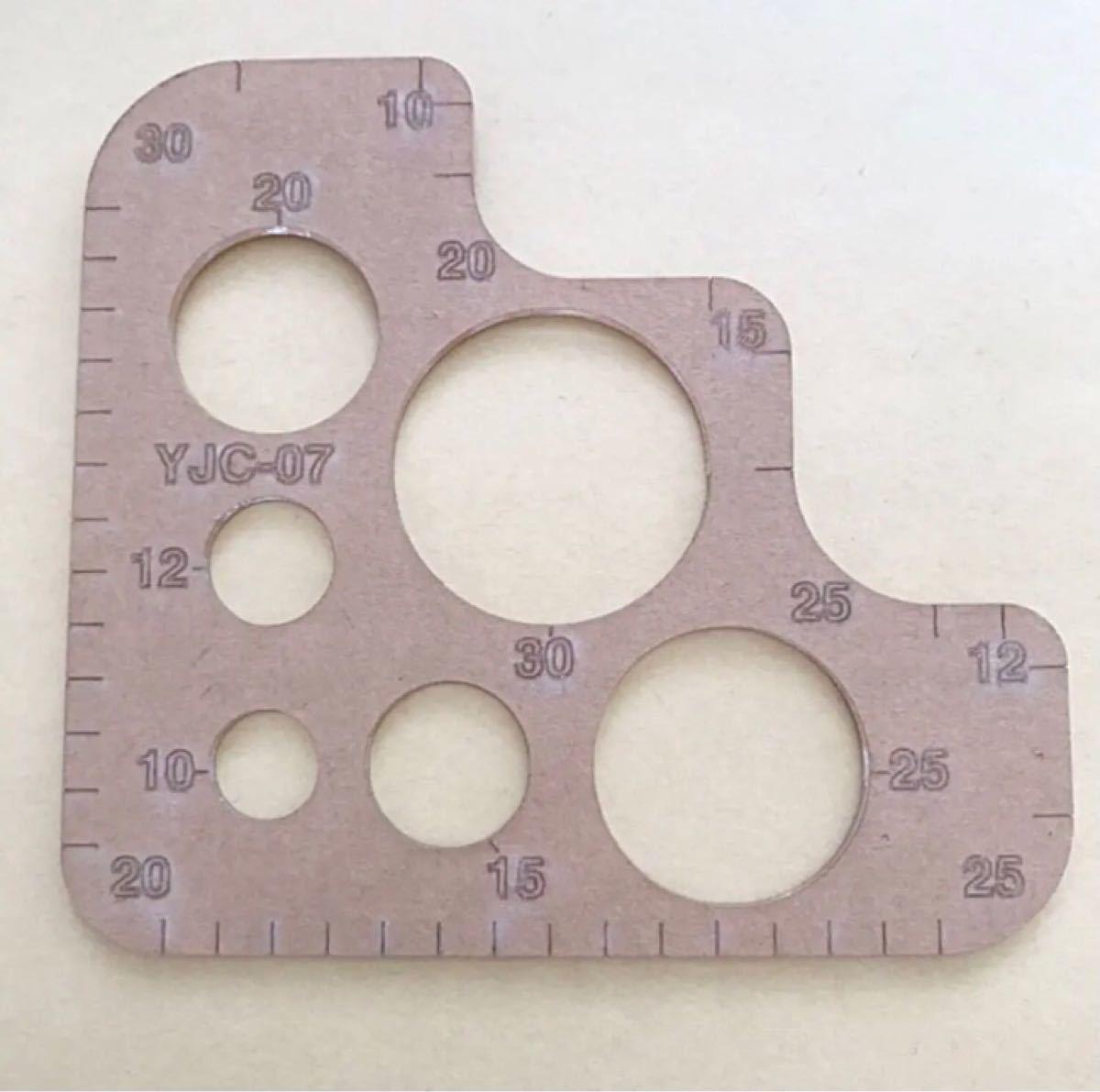 本日限定!お値下げ!レザークラフト 型 R定規 8.5cm×9.3cm アクリル