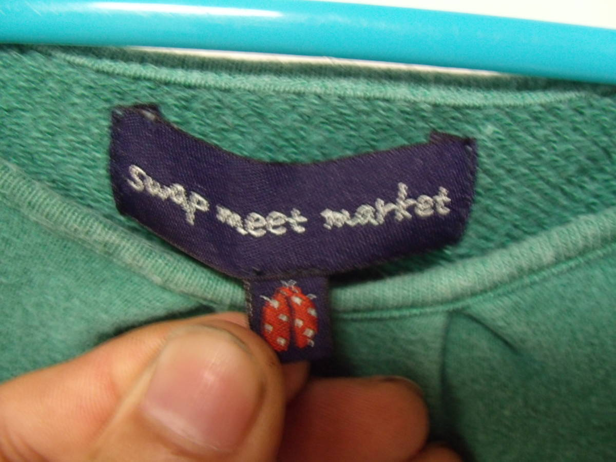 全国送料¥198 スワップミートマーケットSWAP MEET MARKETフィスFITH製 子供キッズ女の子緑色長袖スウェット&コーデュロイワンピース110_画像4