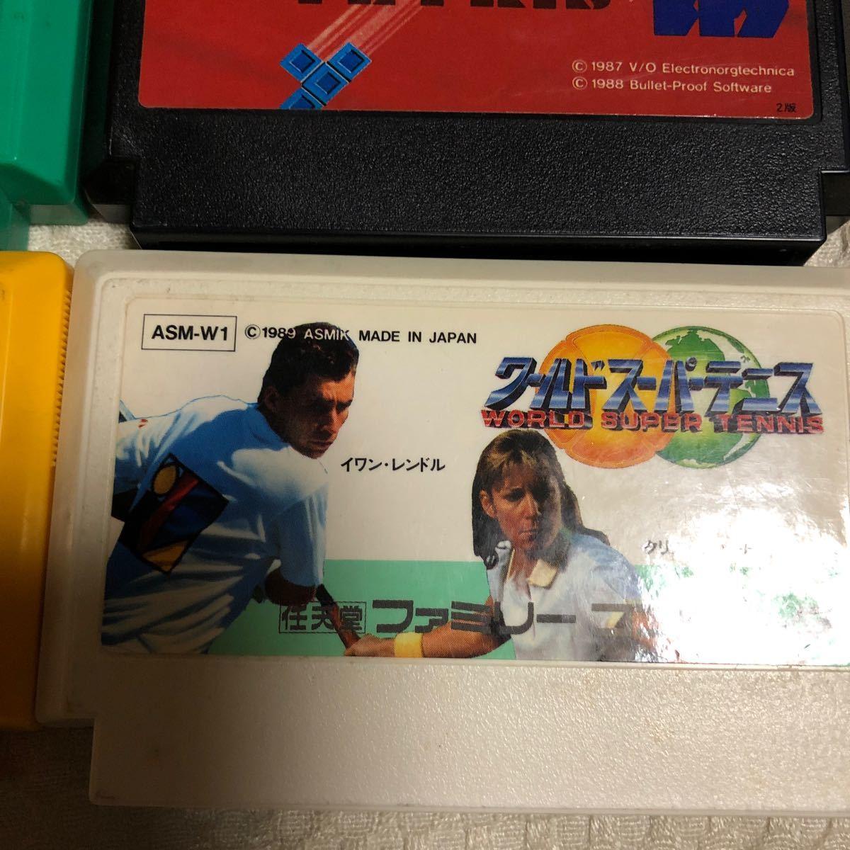 任天堂 ファミコンカセット ソフト ドラゴンクエスト4 スーパーマリオブラザーズ テトリス 4人麻雀 ファミンスタジアム