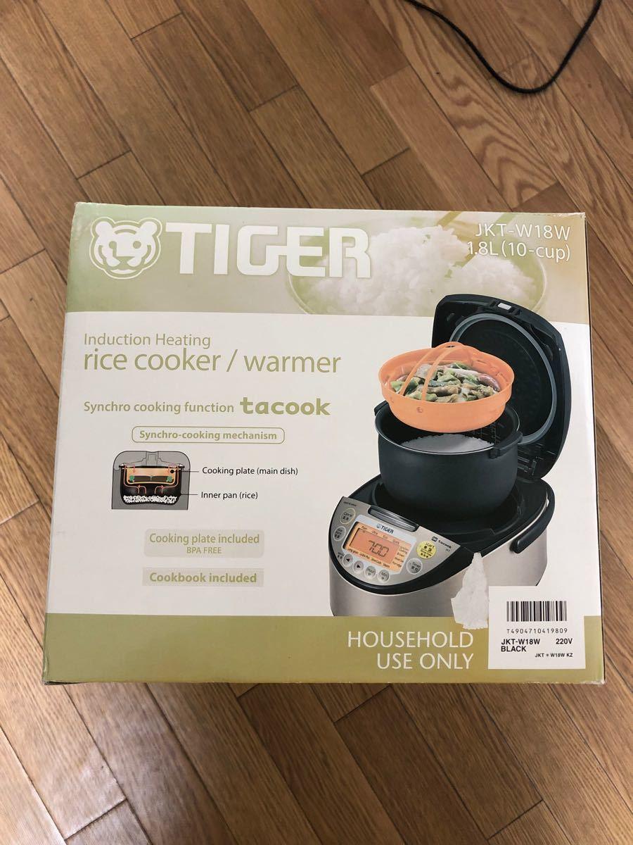 TIGER タイガー 海外向け炊飯器 W銅5層遠赤特厚釜 JKT-W18W 1.8L IH炊飯器 220V 仕様