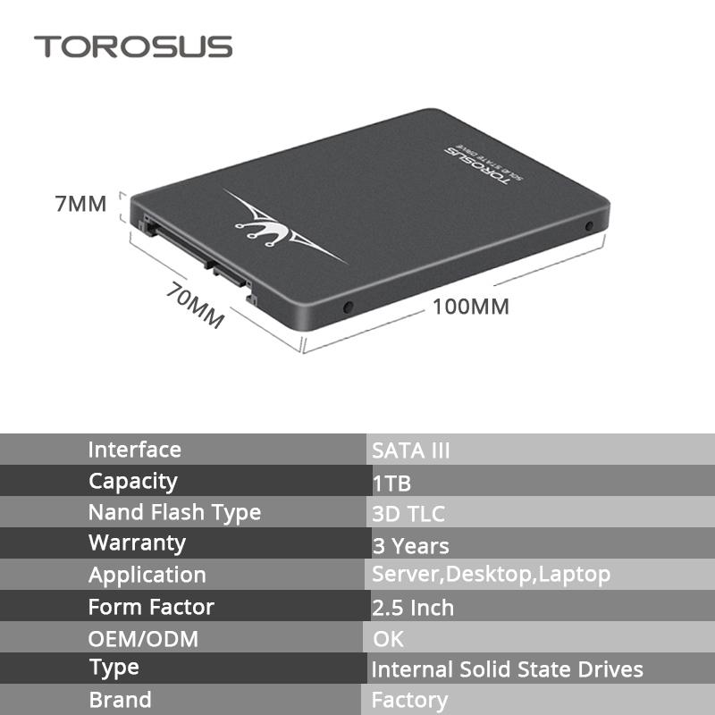 ★ 最安新品!● SSD TOROSUS 240GB SATA3 / 6.0Gbps 内蔵型 2.5インチ NAND 3D TLC 新品未使用 デスクトップ ノートPC TSA240 (a1609)_画像2