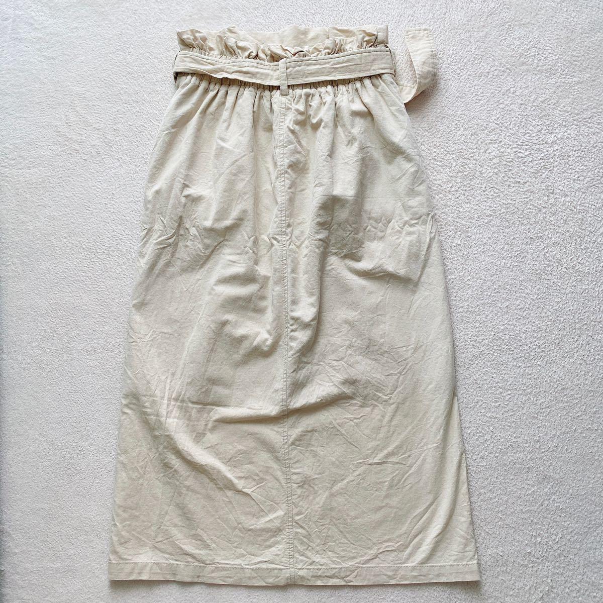 ロングスカート タイトスカート ボーダーTシャツ Vネック