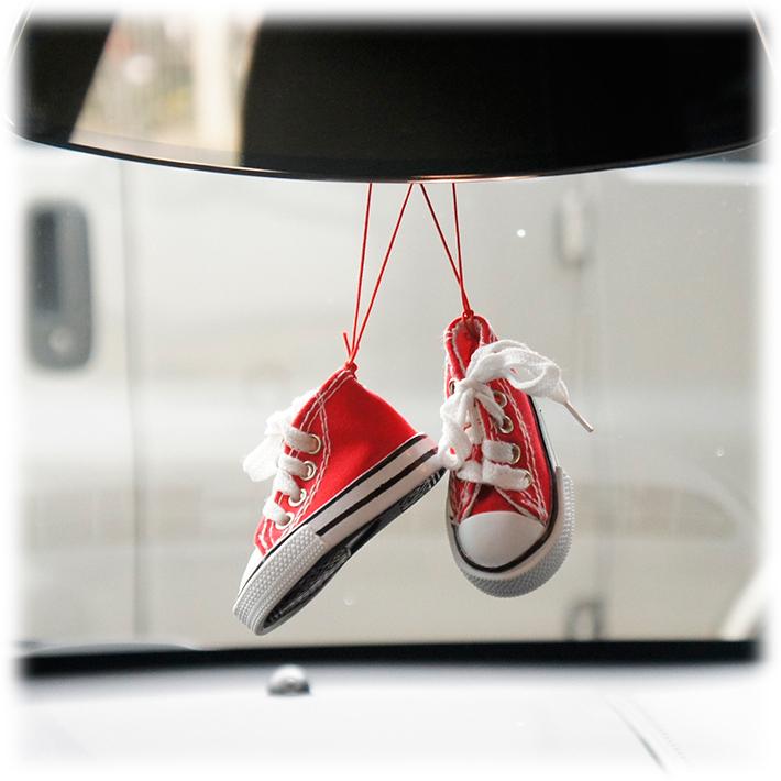 フレッシュ ウェーブ エアフレッシュナー (チェリー) 2個セット 芳香剤 車 部屋 吊り下げ USA 赤 スニーカー【メール便OK】_画像3