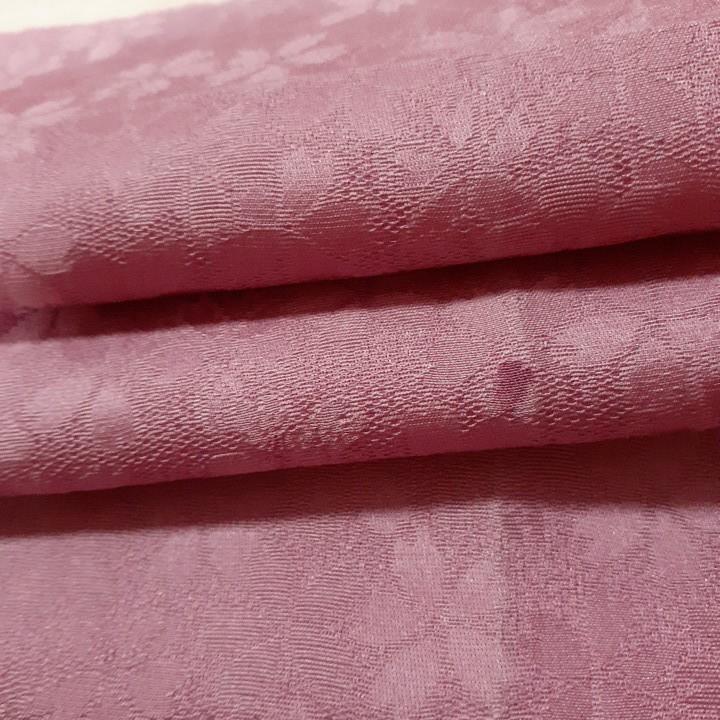 正絹 81503 薄紫ピンク色 花柄 桜柄 シルク350cm はぎれ ハギレ リメイク ハンドメイド