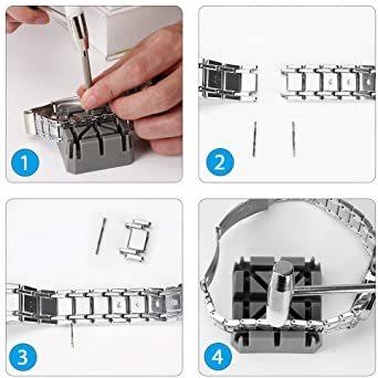 新品BPグレー 12点35-2Kセット腕時計バンド調整 ColiChili 時計ベルト交換 修理 工具 品質が良い_画像5