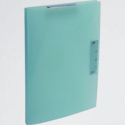 新品 未使用 超天才くんファイル2 ナカバヤシ O-UG ブル- CH-6011B A4 クリップボ-ド バインダ-_画像1