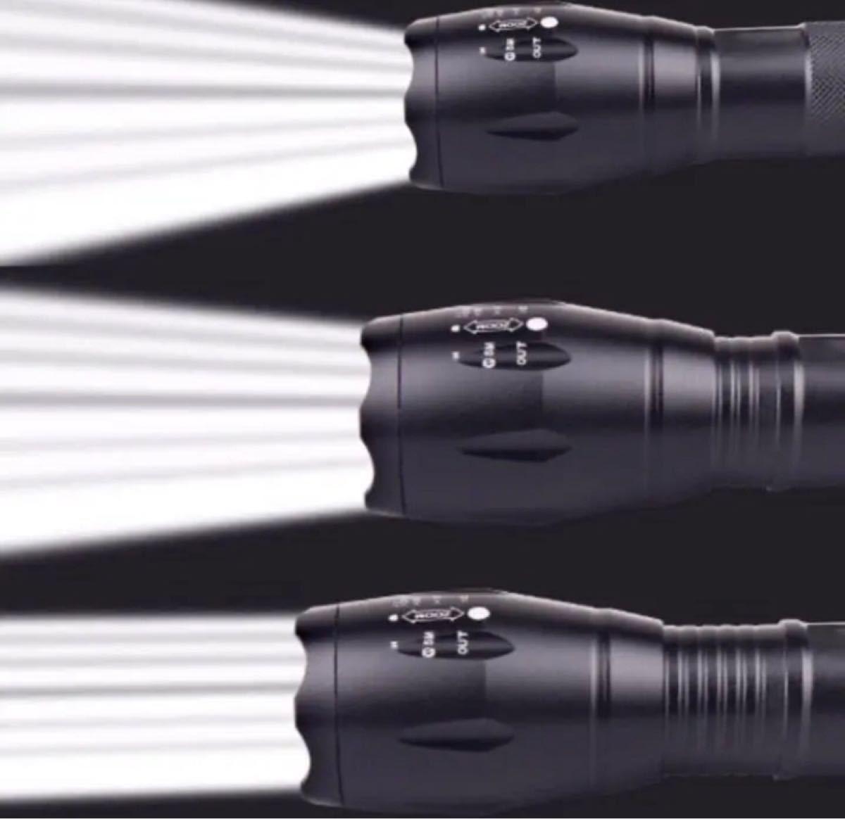 強力 LED 懐中電灯 防水 ズーム機能 1000ルーメン ハンディライト