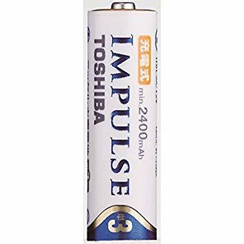TOSHIBA ニッケル水素電池 充電式IMPULSE 高容量タイプ 単3形充電池(min.2,400mAh) 4本 TNH-3_画像3