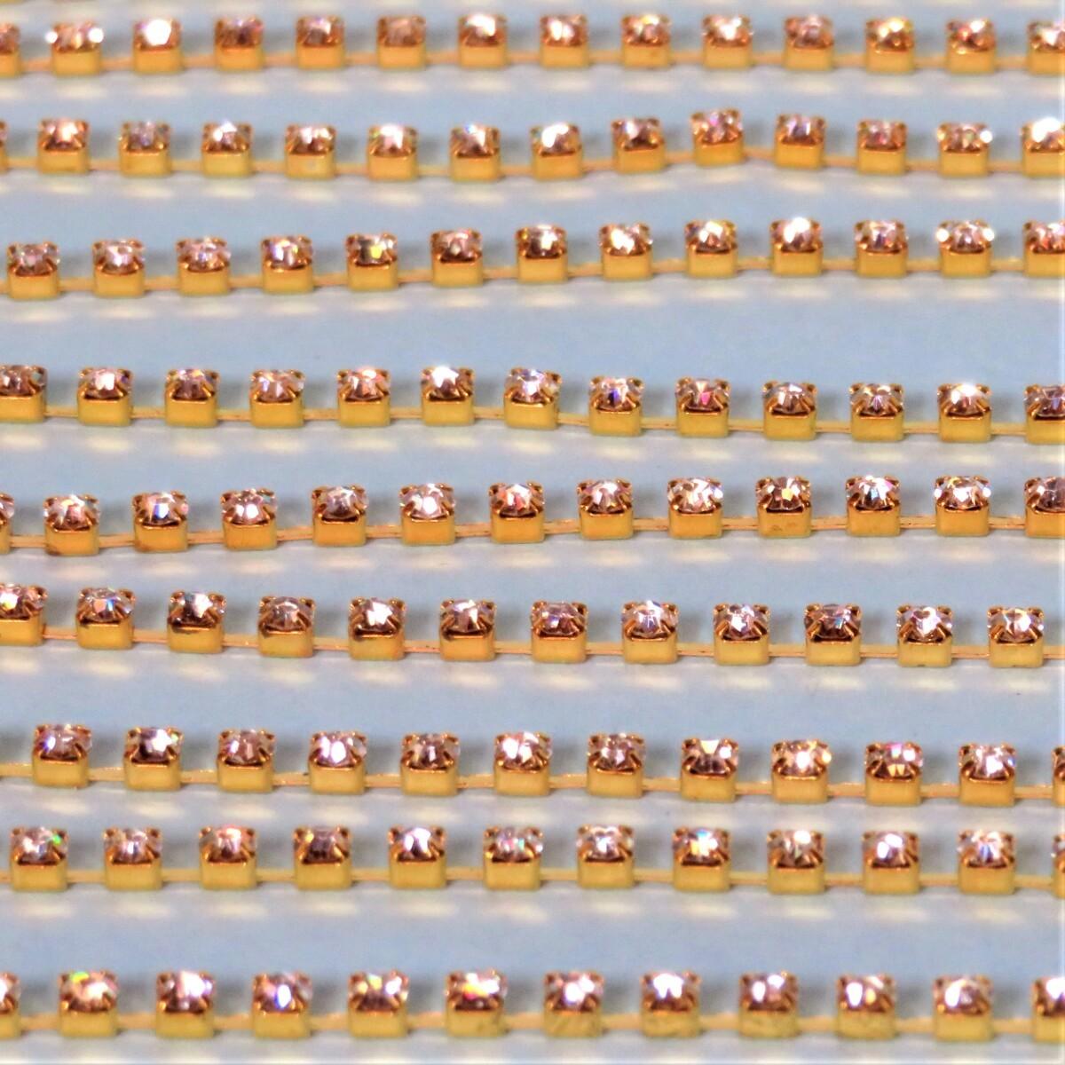 ラインストーン スワロフスキー クリスタル クリア 2m(1m×2) エッグアートなどの装飾に