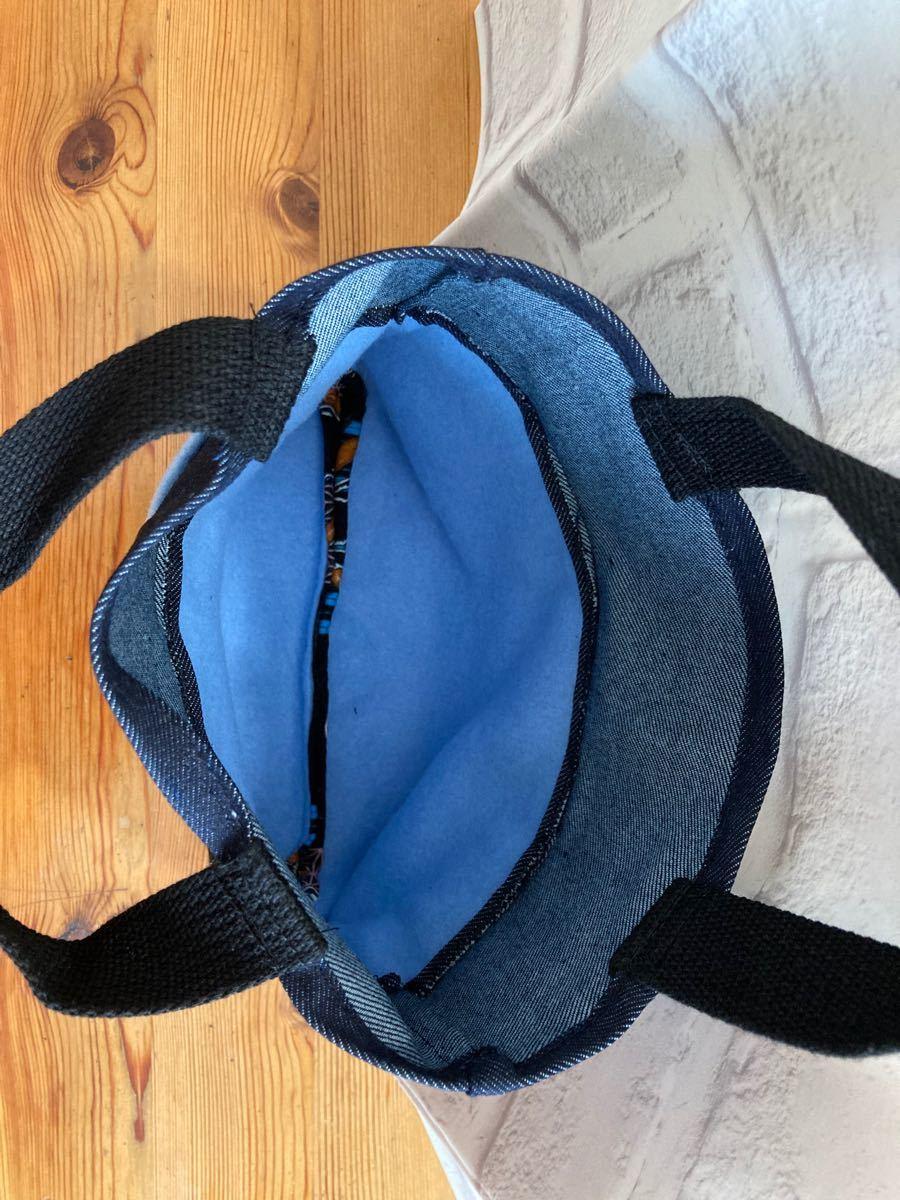ミニトートバック バッグ トート ハンドメイド 手作り エコ ミニ サブ ジーンズ 小学生 子供 袋