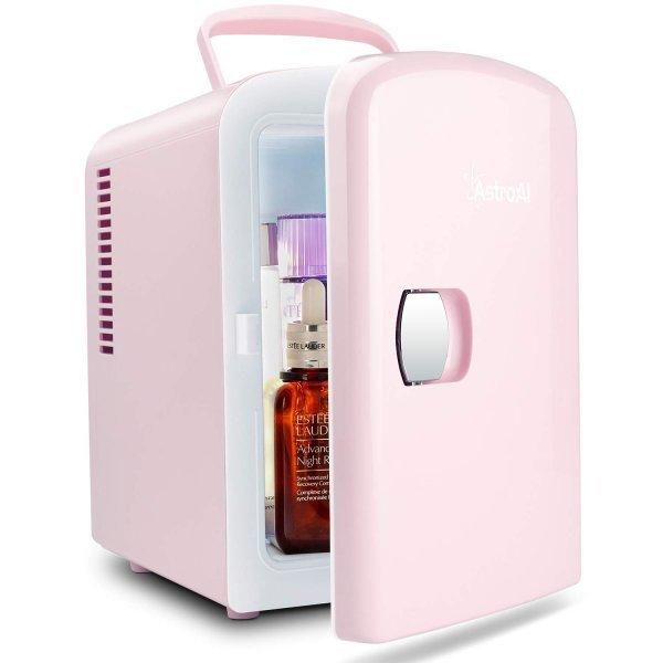 冷蔵庫 小型 ミニ冷蔵庫 冷温庫 ポータブル 4L 6缶 静音 持ち運び 化粧品 一人暮らし 1人暮らし_画像1