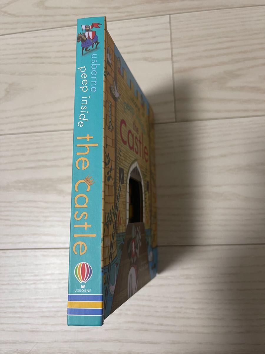 子供英語絵本 Usborne Peep inside Castle ボードブック キャッスル