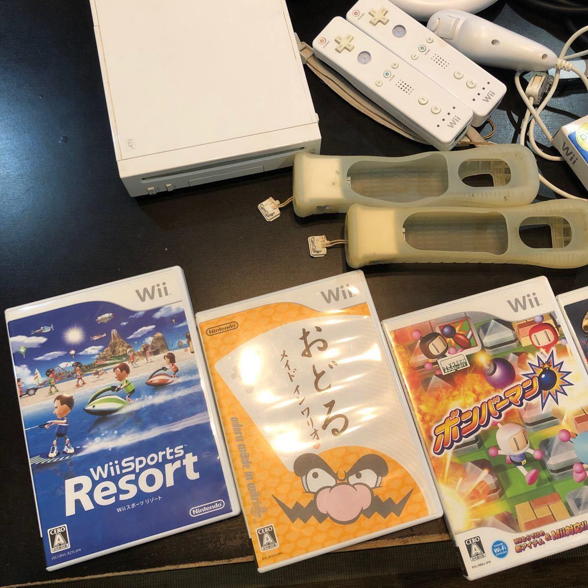 『Wii本体+ソフト9本セット』届いて直ぐに遊べます(動作確認済み)    Wii本体=箱・説明書無し ソフト=箱・説明書全てあり