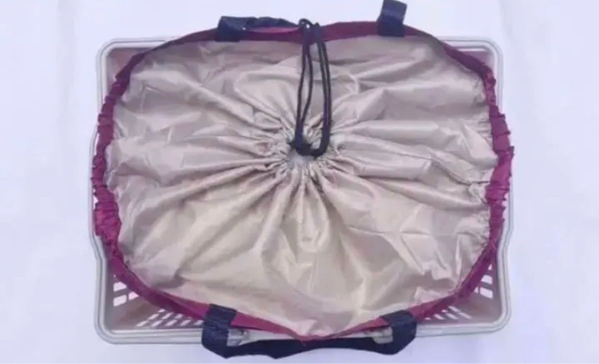 保冷保温機能付きレジカゴバッグ  大容量折りたたみエコマイバッグ
