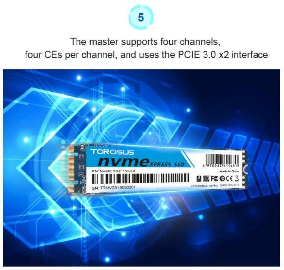 【最安】新品 SSD 256GB TOROSUS M.2 NVMe PCI-E 未開封 デスクトップ ノートPC 高速 2280 TLC 3D NAND 内蔵型 パソコン_画像9