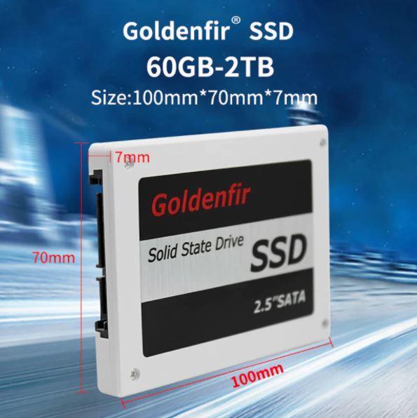 【最安】新品 SSD 120GB Goldenfir SATA3 / 6.0Gbps 未開封 ノートPC デスクトップPC 内蔵型 パソコン 2.5インチ 高速 NAND TLC_画像6