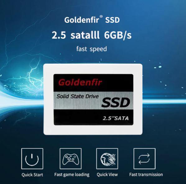【最安】新品 SSD 120GB Goldenfir SATA3 / 6.0Gbps 未開封 ノートPC デスクトップPC 内蔵型 パソコン 2.5インチ 高速 NAND TLC_画像5