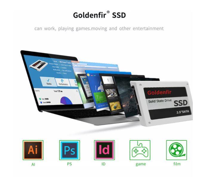 【最安】新品 SSD 120GB Goldenfir SATA3 / 6.0Gbps 未開封 ノートPC デスクトップPC 内蔵型 パソコン 2.5インチ 高速 NAND TLC_画像8
