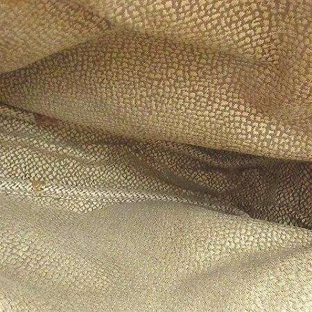 ボルボネーゼ BORBONESE ハンドバッグ トート うずら柄 スエード 切替 レザー フラップ 茶 ブラウン 鞄 レディース_画像7
