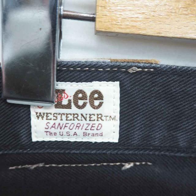 リー LEE デニム ジーンズ パンツ ストレート ジップフライ 31 黒 ブラック /TT8 レディース_画像3
