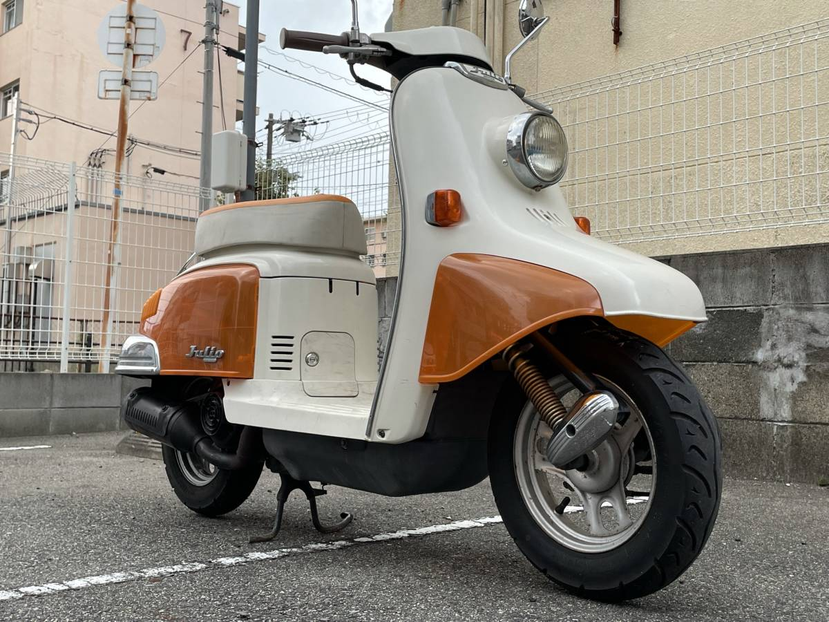 「【大阪市】AF52 ジュリオ スケルトン外装 レトロ可愛い珍車 メンテナンス済み」の画像2