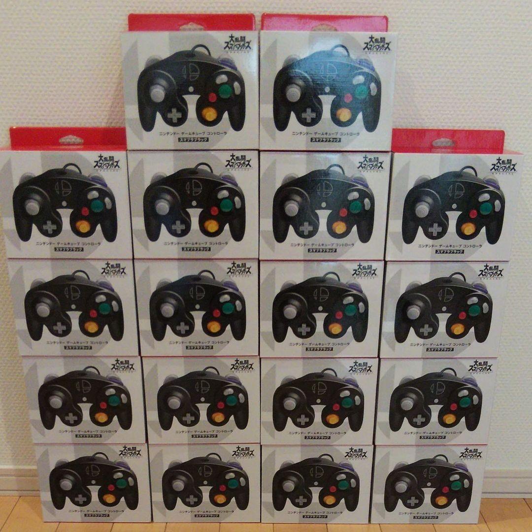 大乱闘スマッシュブラザーズ ニンテンドー  ゲームキューブコントローラー  スマブラブラック 18個セット