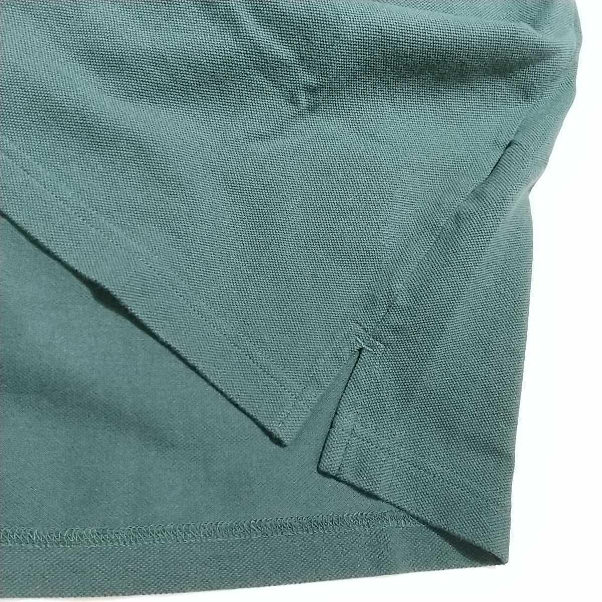 ★PEARLYGATES パーリーゲイツ 半袖 ポロシャツ ゴルフ ウエア 鹿の子 メンズ size4 (M) 深緑 グリーン ロゴワッペン カーキ_画像8