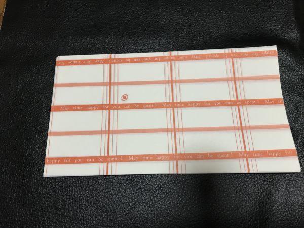 小さなお品物の包み紙 25枚 包装紙 ラッピングペーパー 模造紙 片艶クラフト紙 片面ツヤ加工 約20×11㎝ _25枚
