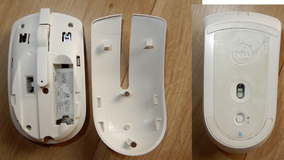 ワイヤレス キーボード(難あり) マウス 白 デル インスパイロン