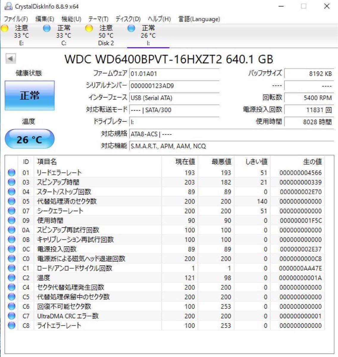 外付けポータブルHDD赤 USB3.0 640GB ケース付きNo4