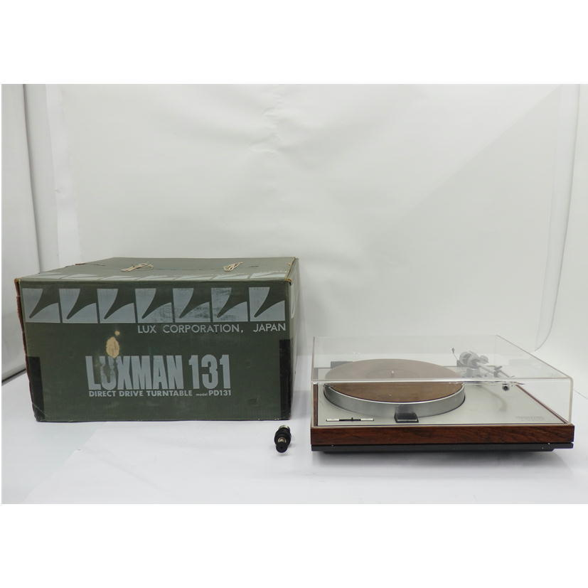 1円【ジャンク】LUXMAN ラックスマン/レコードプレーヤー/PD131+3009S2/77