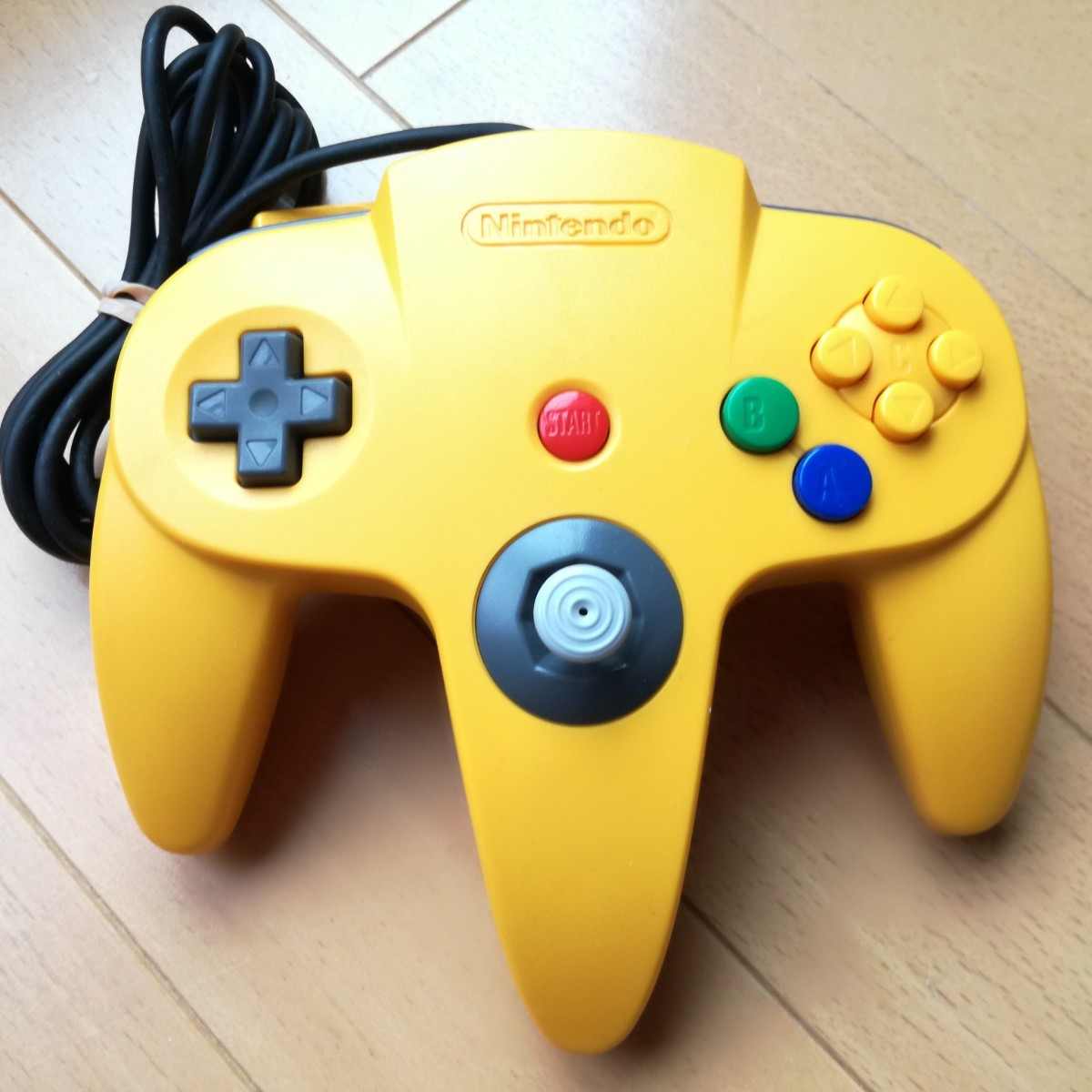 NINTENDO64 イエロー 純正コントローラー ニンテンドー64 任天堂64 ニンテンドー Nintendo 動作確認済み