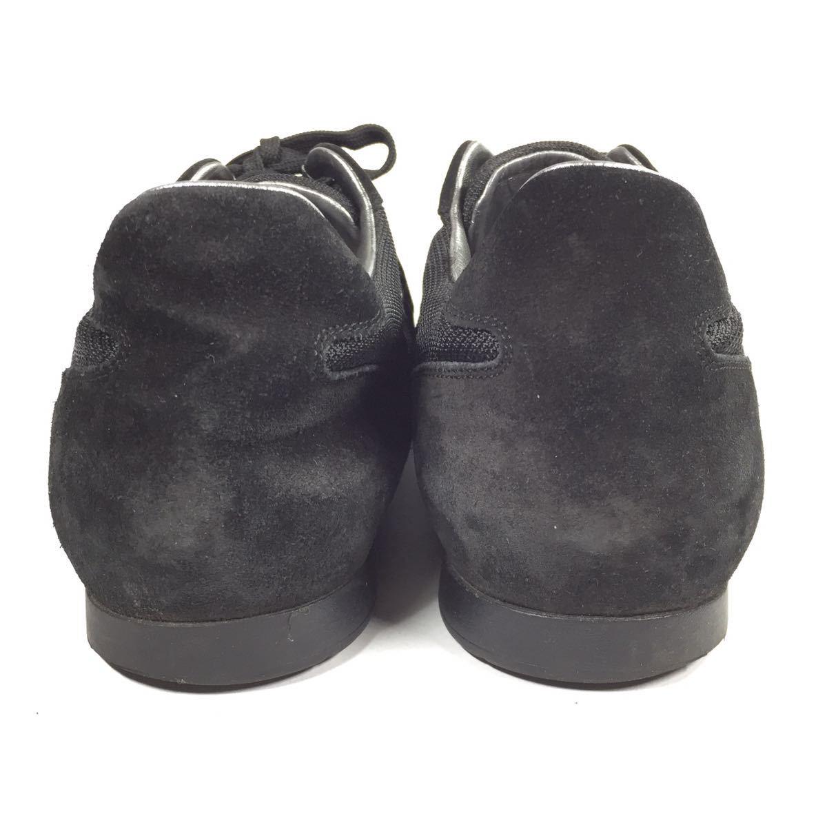 【ルイヴィトン】本物 LOUIS VUITTON 靴 26cm 黒色系 LVロゴ スニーカー カジュアルシューズ スエード 男性用 メンズ イタリア製 7_画像3