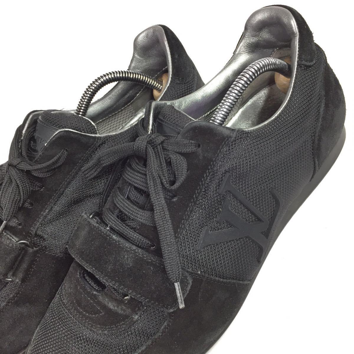 【ルイヴィトン】本物 LOUIS VUITTON 靴 26cm 黒色系 LVロゴ スニーカー カジュアルシューズ スエード 男性用 メンズ イタリア製 7_画像8