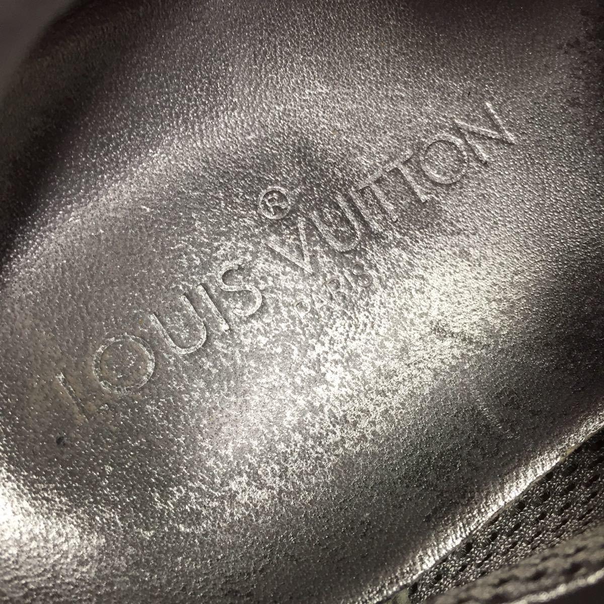 【ルイヴィトン】本物 LOUIS VUITTON 靴 26cm 黒色系 LVロゴ スニーカー カジュアルシューズ スエード 男性用 メンズ イタリア製 7_画像9
