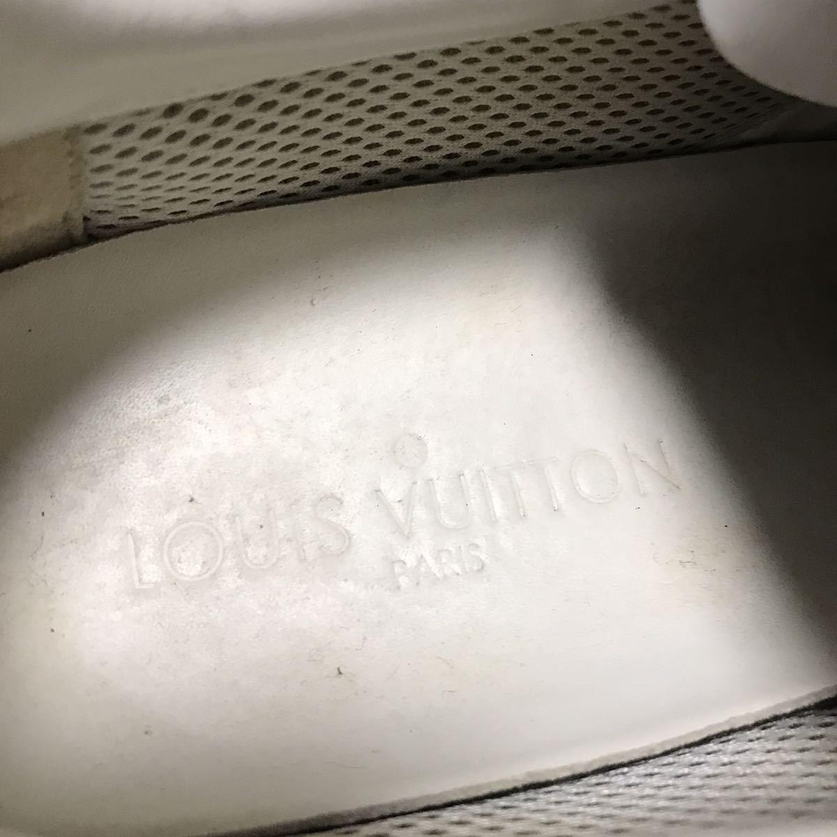 【ルイヴィトン】本物 LOUIS VUITTON 靴 25.5cm 黒 ダミエライン ファストレーン スニーカー カジュアルシューズ レザー×PVC メンズ 6 1/2_画像9