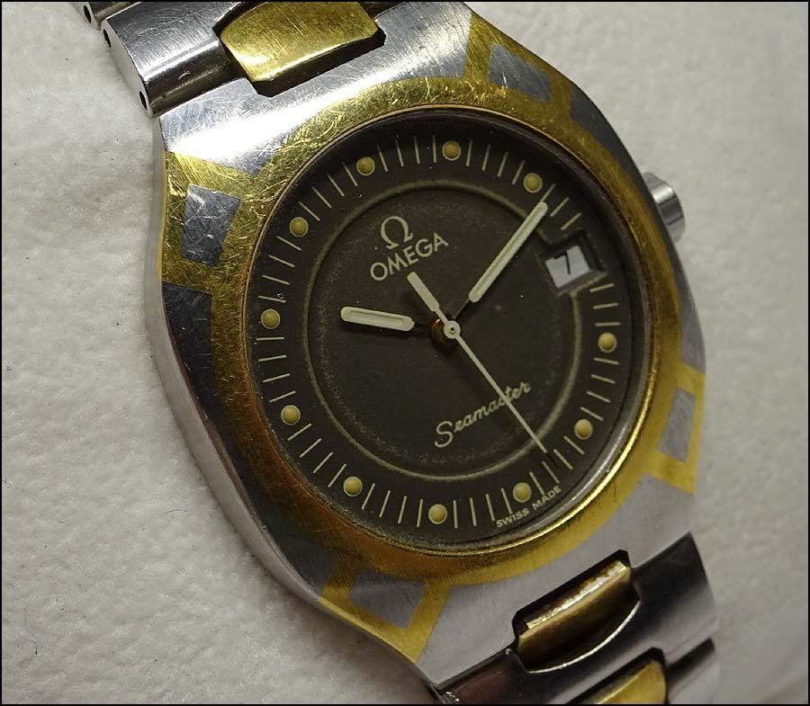 緑屋xt■ OMEGA オメガ シーマスター ポラリス コンビ 電池交換済 腕時計 mae/9-5027/5-3#60