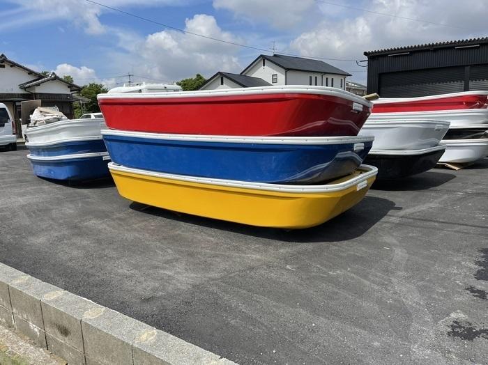 「船 箱舟 黄色 天板 作業用ボート 小型船 レジャーボート バス釣り ボート FRP 頑丈 漁業 2馬力 免許不要 フィッシング」の画像1