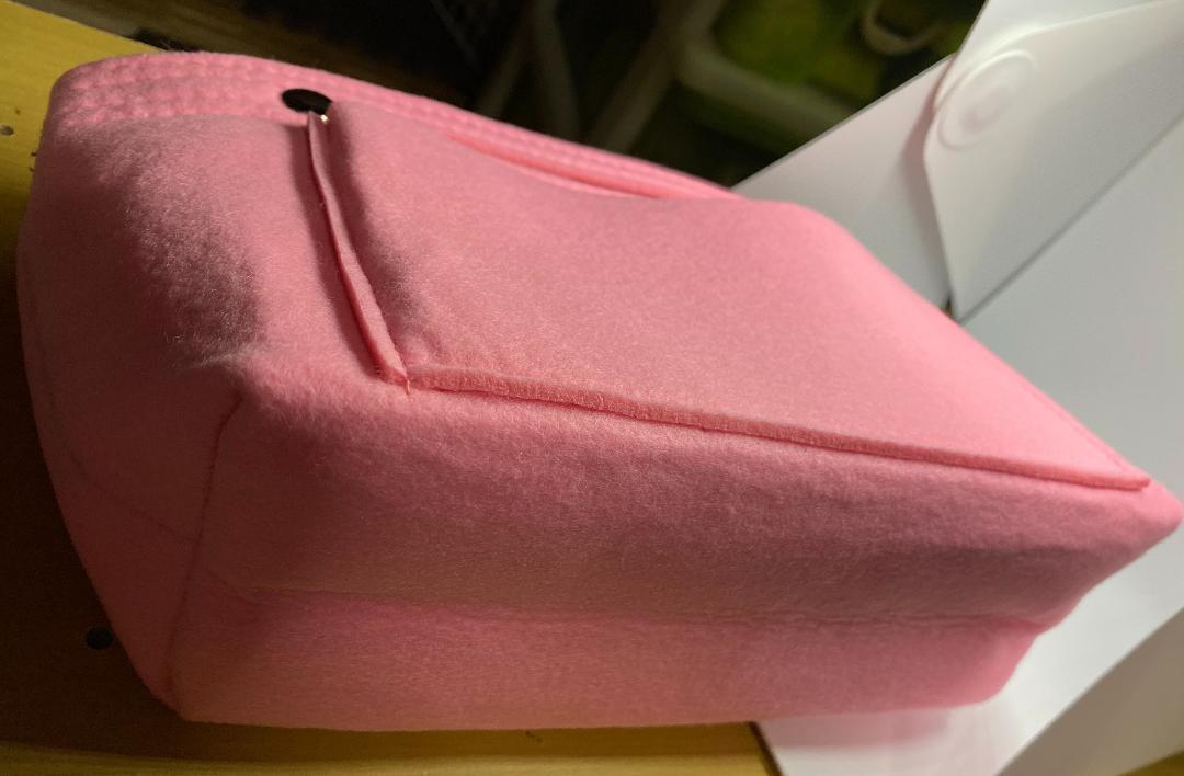 バックインバック フェルト おしゃれ 軽量 インナーバッグ 化粧ポーチ ピンク