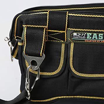 新品34.5x20.5x22CM YZL ツールバッグ 工具袋 ショルダー ベルト付 肩掛け 手提げ 大口収納 HU6N_画像4