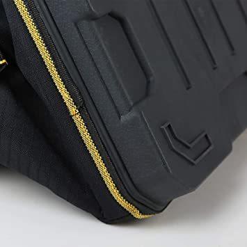 29x19x19CM YZL ツールバッグ 工具袋 ショルダー ベルト付 肩掛け 手提げ 大口収納 差し入れ 底部特化 プラスチ_画像3