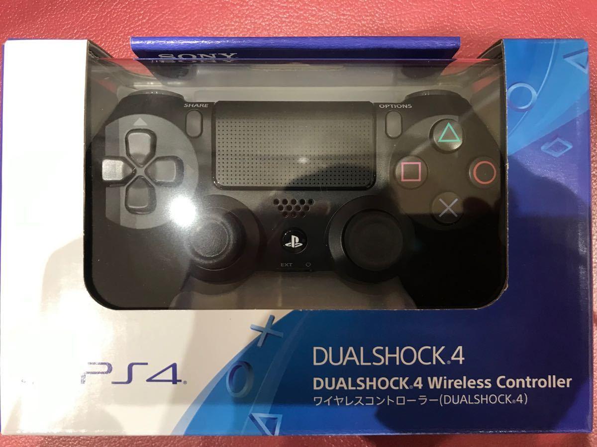 新品未開封 PS4 ソニー SONY 純正 ワイヤレスコントローラー DUALSHOCK4 ジェット・ブラック CUH-ZCT2J
