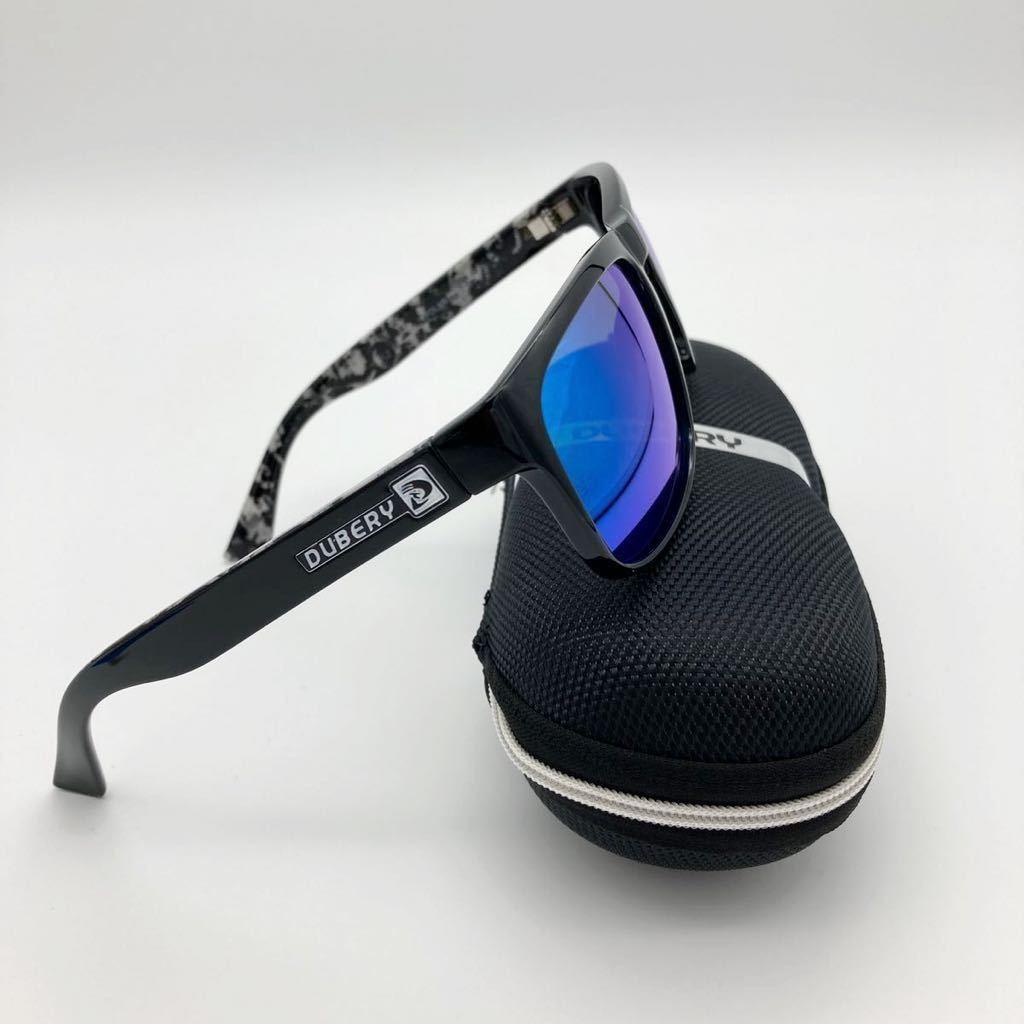 DUBERY 偏光 サングラス UVカット 新品 未使用 送料無料 グリーンミラーレンズ 大人気 即決 運転 釣り サイクリング エギング スポーツ