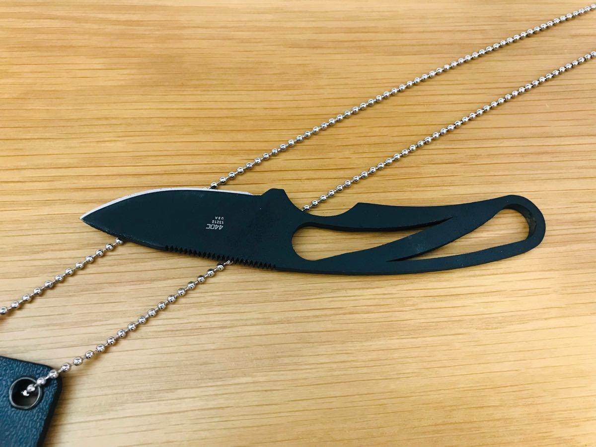 ナイフ シースナイフ #016【ブラック】アウトドア