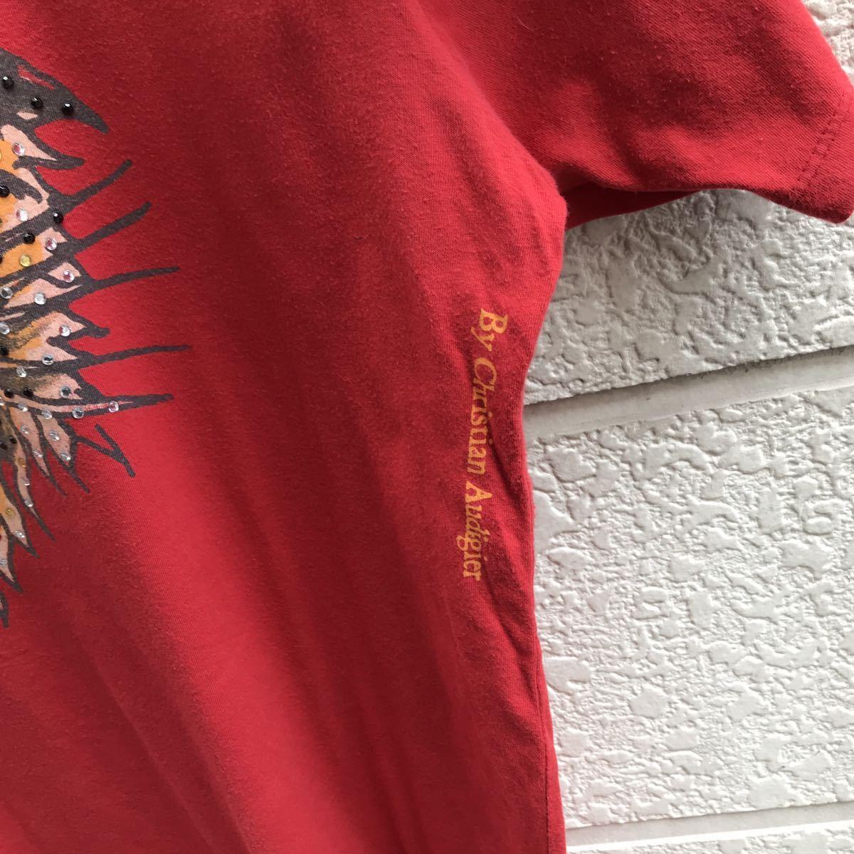 US古着 USA製 Ed Hardy プリントTシャツ アニマル柄 トラ柄 入れ墨 タトゥー タトゥー柄 半袖Tシャツ エドハーディー アメリカ製 XLサイズ_画像6