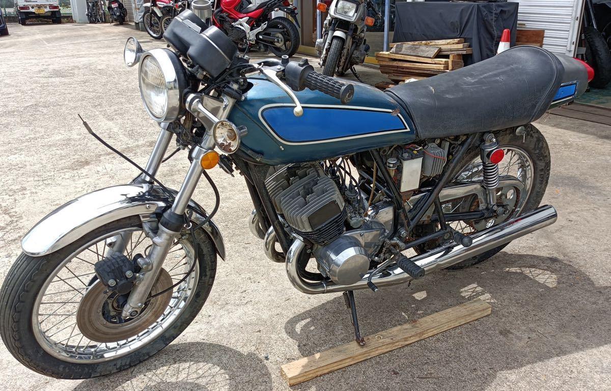 「【登録書類有】【レストアベース】 KAWASAKI 500SS H1F 1975年 旧車/希少価値 カワサキ.」の画像2