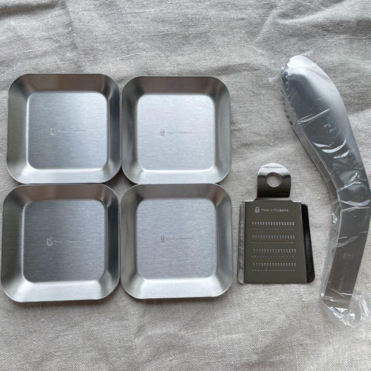 TSUBAME おろし金 トング 薬味小皿 ステンレス 6点 燕三条 日本製
