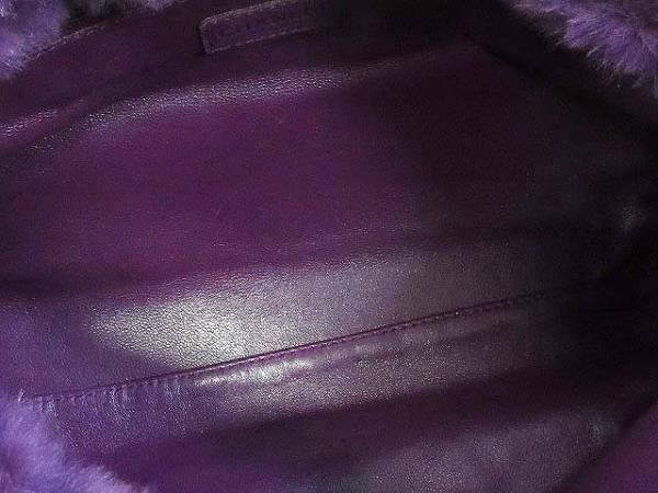 シャネル ラパン チェーン ショルダーバッグ ラビットファー 紫_画像8